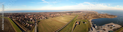 Luftbild-Panorama Hafen Spiekeroog