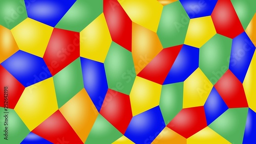 Abstract multicolor background with convex polygons. - 252642198