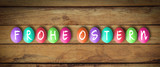 Ostereier mit Nachricht