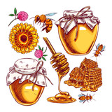 Cute honey set