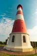 canvas print picture - Schöner Leuchturm in Westhever