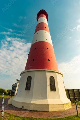 canvas print picture Schöner Leuchturm in Westhever