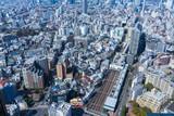 東京恵比寿の高層ビルから見る目黒、渋谷方面の風景