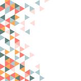 Colorful geometric triangle pattern