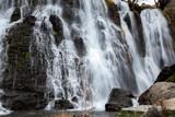 beautiful high waterfall in Armenia