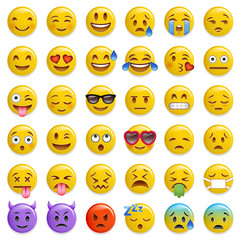 smiley emoticon glossy vector set © cunico