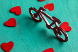 Bicycle and Hearts