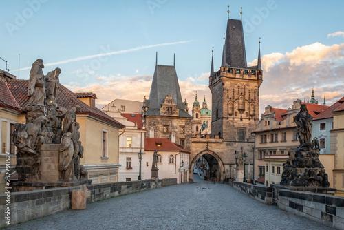 obraz lub plakat The Charles bridge and the river Vltava Prague Czech republic