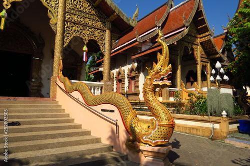 Escalier avec dragon doré