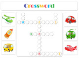 English for kids. Transportation crossword