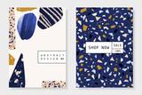 Collage and Terrazzo Brochure Design Templates - 252814754