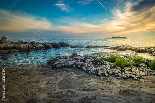 View of beautiful sunset above the Adriatic sea - 252847590