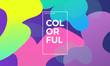 Trendy design template with fluid gradient shapes