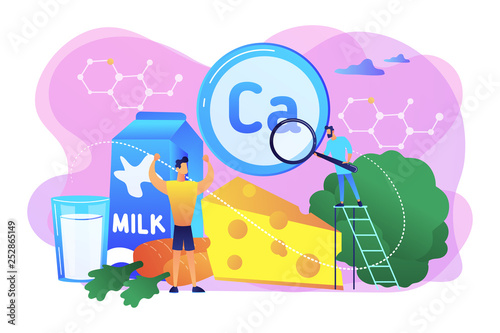 Uses of Calcium concept vector illustration. - 252865149