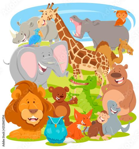 funny comic animal characters group