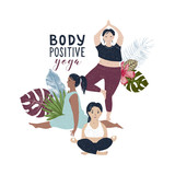 Body positive yoga concept - 252869138