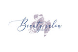 Beauty salon logo template with hand drawn butterfly - 252869171
