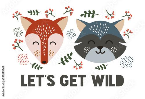 Forest animal illustration.