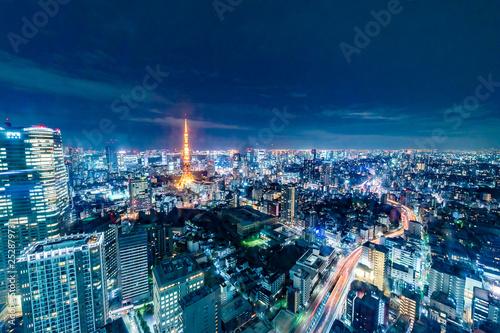 obraz lub plakat 超高層ビルからの東京夜景