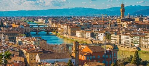 Leinwanddruck Bild Florence Cityscape Panorama