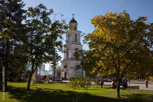 Moldova, la città di Chisinau. Il campanile della Cattedrale.