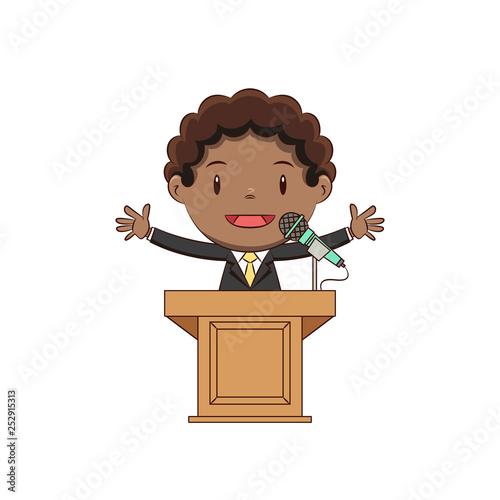 Boy podium speech - 252915313