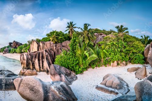 Fototapety, obrazy : Strand Anse Source d'Argent, La Digue, Seychellen