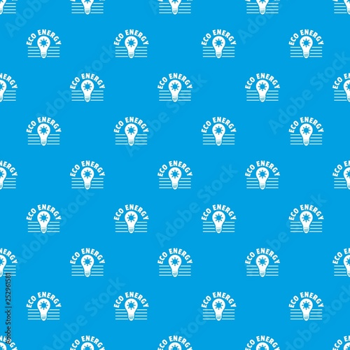 Eco energy pattern vector seamless blue repeat for any use © ylivdesign