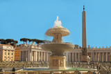 Rome, Italy - APRIL 10, 2016:  St. Peter's Square (Vatican, Rome, Italy), Renaissance architecture. One of the popualr touristic destinations in Rome - 253000159