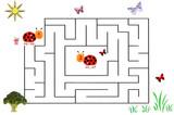 Funny maze game for Preschool Children. Illustration of logical education for children of preschool age. - 253000705