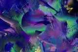 Abstract Modern Art background. Paint in Motion on the subject of creativity, imagination and energy of life. - 253000938