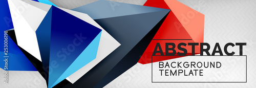 3d polygonal shape geometric background, triangular modern abstract composition © antishock