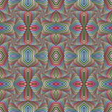 Multicolor Seamless abstract festive pastel pattern. Tiled ethnic pattern. Geometric mosaic. Great for tapestry, carpet, blanket, bedspread, fabric, ceramic tiles, stained glass window, wallpapers - 253007738