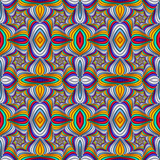 Multicolor Seamless abstract festive vivid pattern. Tiled ethnic pattern. Geometric mosaic. Great for tapestry, carpet, blanket, bedspread, fabric, ceramic tiles, stained glass window, wallpapers - 253008554