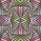 Multicolor Seamless abstract festive pastel pattern. Tiled ethnic pattern. Geometric mosaic. Great for tapestry, carpet, blanket, bedspread, fabric, ceramic tiles, stained glass window, wallpapers - 253013574