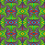 Multicolor Seamless abstract festive vivid pattern. Tiled ethnic pattern. Geometric mosaic. Great for tapestry, carpet, blanket, bedspread, fabric, ceramic tiles, stained glass window, wallpapers - 253014990