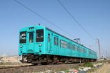 Wakayama - February 28, 2019: The local train running on the rural area.