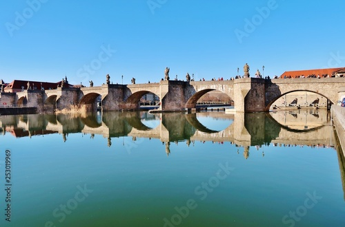 Leinwanddruck Bild Würzburg, Alte Mainbrücke