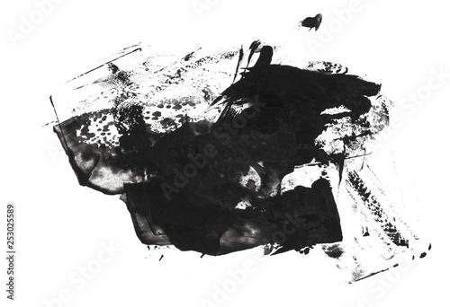 black stain brush stroke © Alex