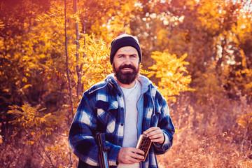 Autumn hunting season. Autunm hunting. Closed and open hunting season. Hunting in Russia. Autumn.