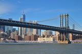 Fototapeta Nowy Jork - Manhattan Bridge. © mshch