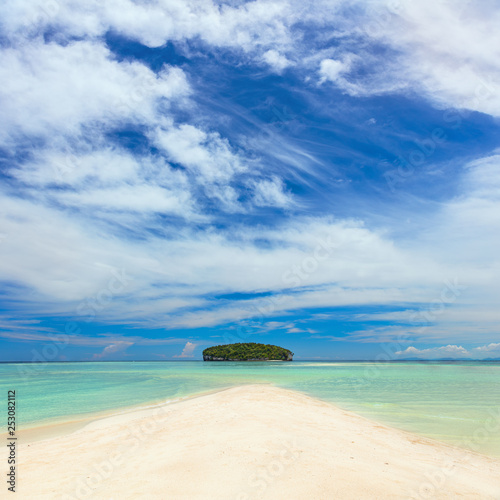 Fototapeten Strand Real Tropical Island with clear water and white sand beach
