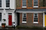 Fototapeta Londyn - London, England - march 11 2018 : houses near the Shakespeare Globe Theatre © PackShot
