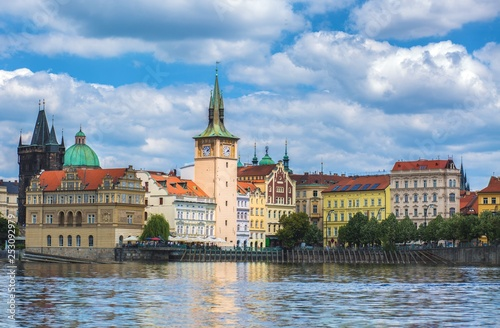 obraz PCV Prague and vltava river view background