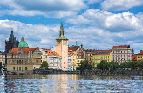 obraz lub plakat Prague and vltava river view background