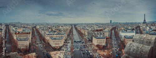 Paris Panoramic from the Arc de Triomphe