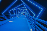 Fototapeta Do przedpokoju - The High Trestle Trail Bridge in Boone, Iowa during the Night © Jared