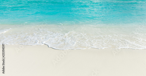 Leinwandbild Motiv  Maldives island with white sandy beach and sea
