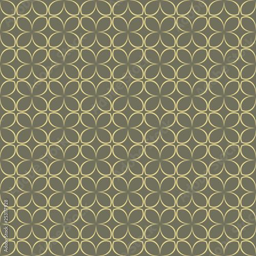 Simple flower shape seamless pattern - 253117928