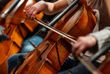 Orchestra Cello Players Background